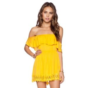 NWT Lovers + Friends Dream Vacay Yellow Dress XS
